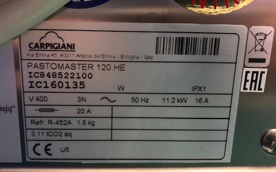 Carpigiani Pastomaster 120 HE fagylalt pasztörizáló
