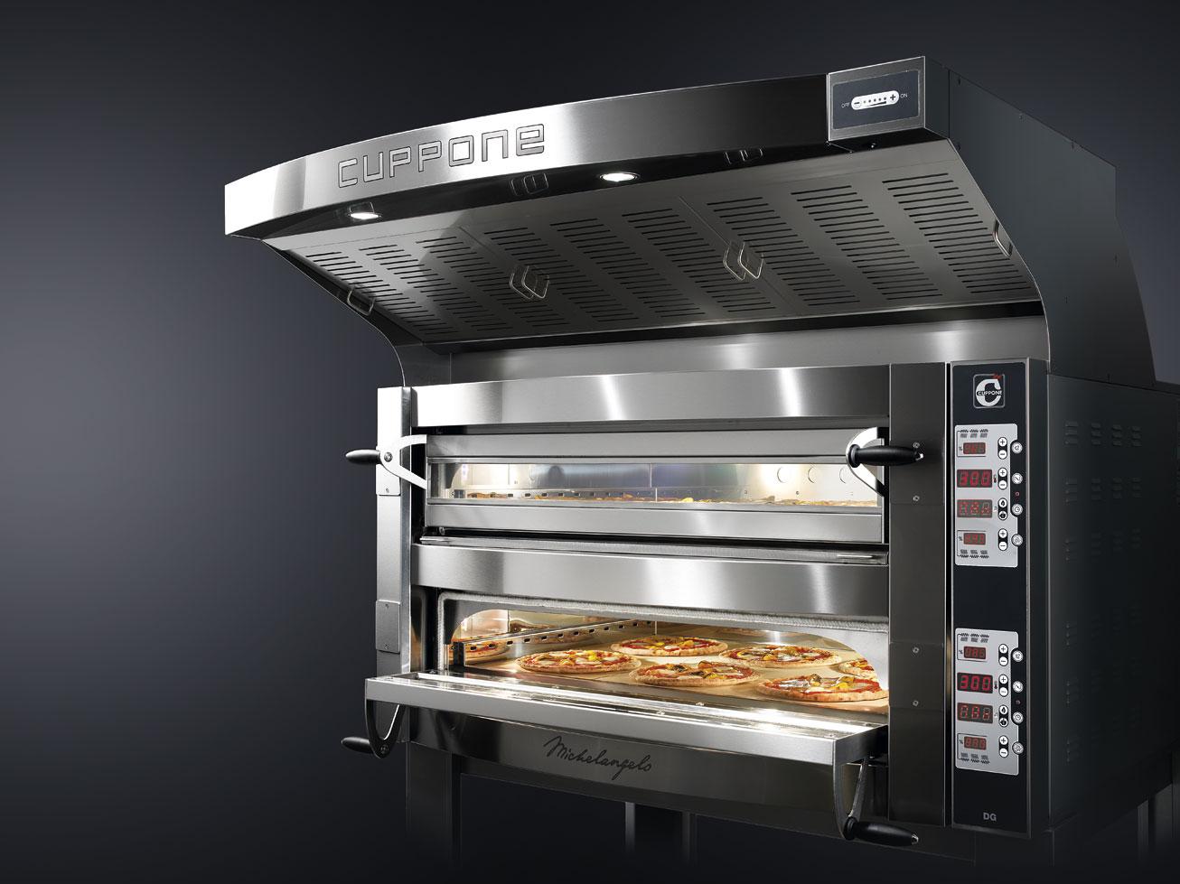 Cuppone Michelangelo CD elektromos pizzakemence 2 aknás ML435/2