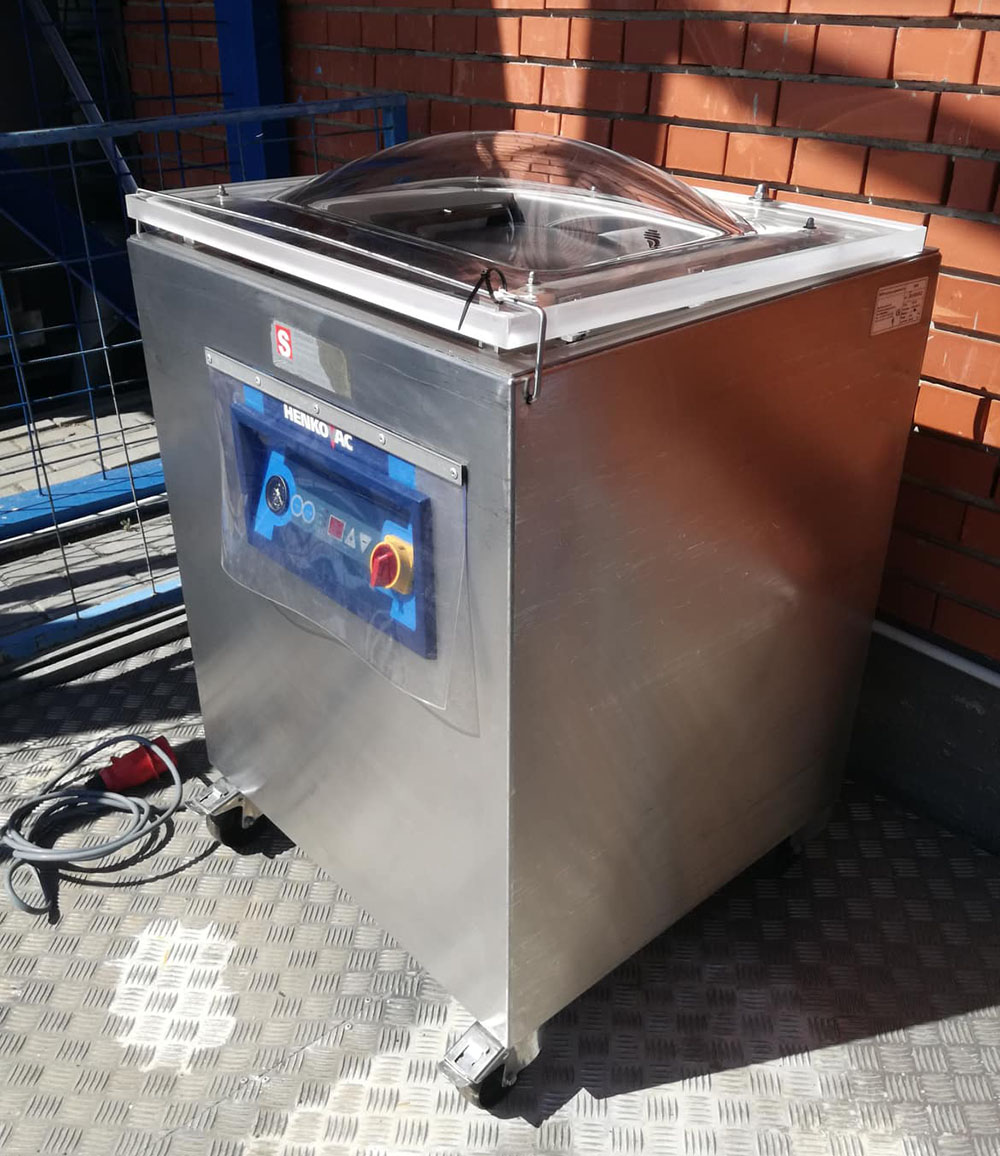 Henkovac 200i álló vákuumcsomagológép, húsipari csomagológép