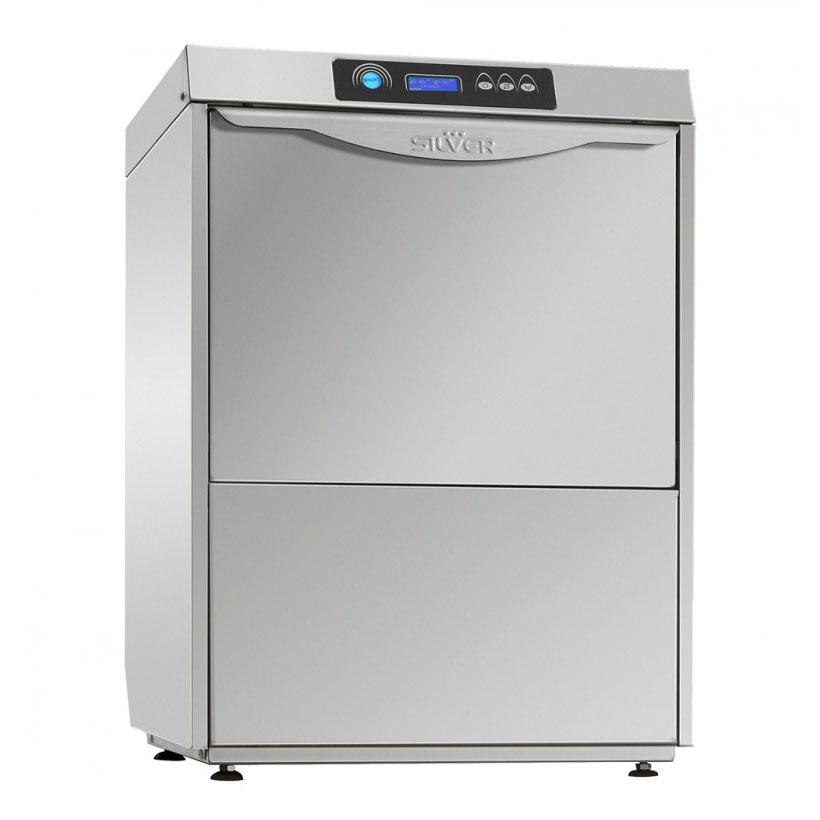 SILVER EXCEL 500 HR CUTLERY pohár és tányér mosogatógép, hővisszanyerős, UV lámpával